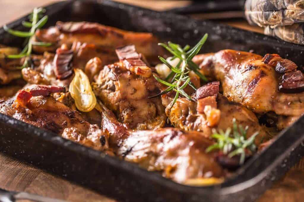 receta conejo al horno
