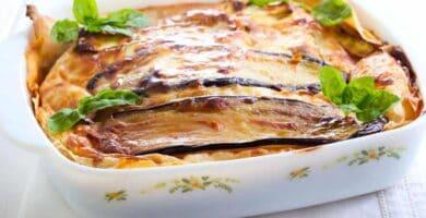 receta Lasaña de berenjena
