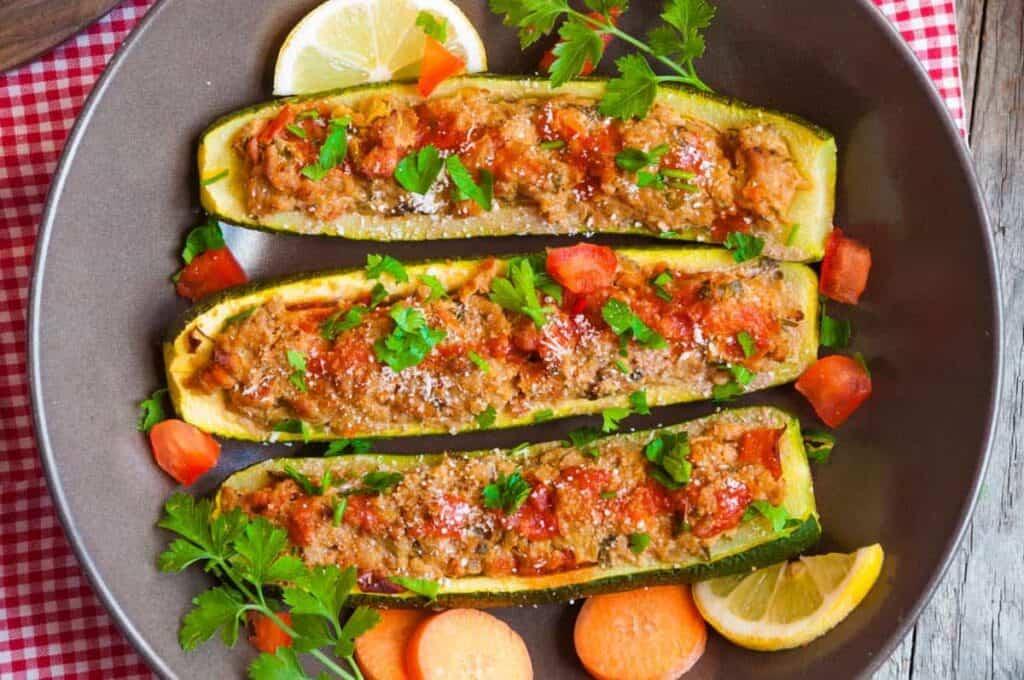 receta calabacines rellenos de carne