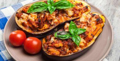 receta berenjenas rellenas de carne