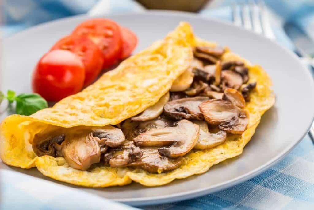 tortilla de champiñones receta