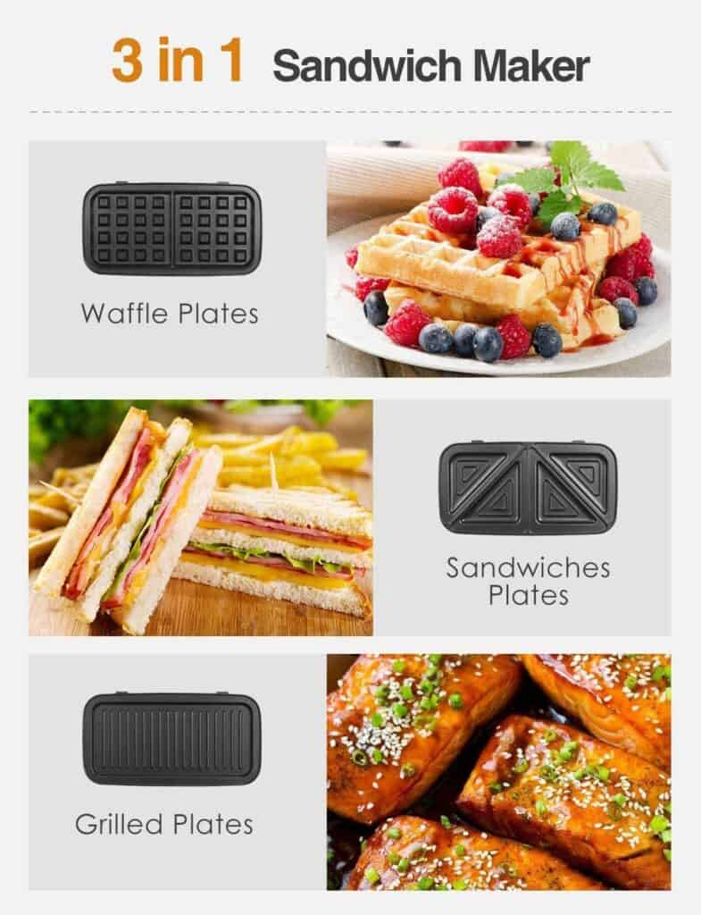 comprar Sandwichera 3 en 1 DECEN