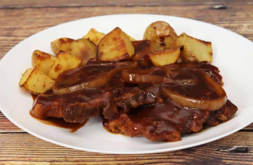 Chuletas de Cerdo en Salsa BBQ